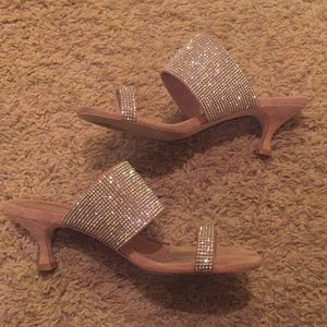 Jeffrey Campbell toe ring rhinestone heels